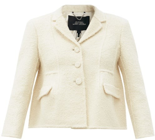 MARC JACOBS, RUNWAY Marc Jacobs Runway - Single-breasted Wool-blend Boucle Jacket - Ivory