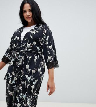 City Chic Alexandra Short Wrap Kimono
