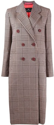 Paul Smith Check Print Coat
