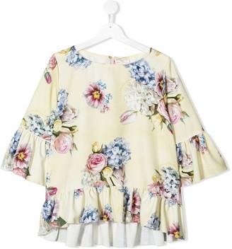 MonnaLisa TEEN floral print blouse