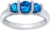 JCPenney FINE JEWELRY Love Lives Forever 1 CT. T.W. Color-Enhanced Blue Diamond Engagement Ring