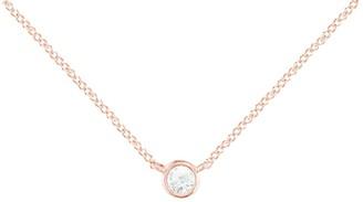 London Road 9ct Rose Gold Large Raindrop Diamond Pendant, Rose Gold