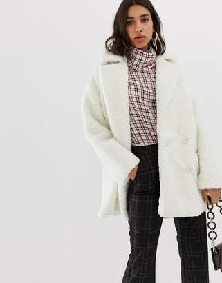 Gestuz Eri teddy coat-White