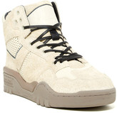 Pony Mesh Suede Padded Cuff Mid Sneaker