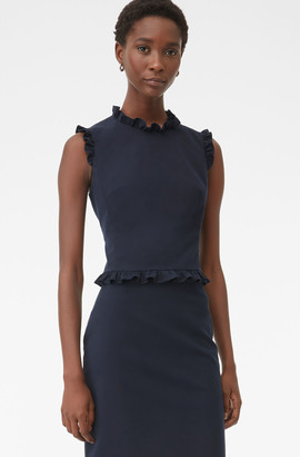 Rebecca Taylor Tailored Ruffle Suiting Top
