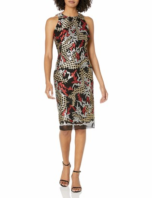 Nicole Miller Women's Embroidery Cocktail Dress