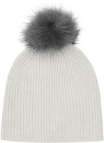 Reiss Cleo - Knitted Bobble Hat in Grey, Womens