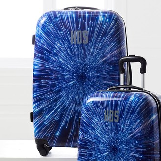 """Pottery Barn Teen Hyperdrive Hard-Sided 28"""" Checked Spinner Suitcase"""