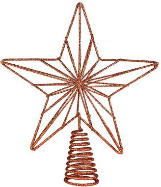 Argos Home Christmas Noir Copper Geometric Star Tree Topper