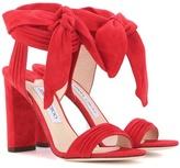 Jimmy Choo Kora 100 Suede Sandals