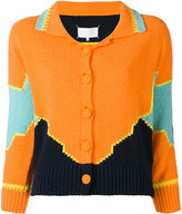 Maison Margiela colour block knitted cardigan - women - Cotton/Polyester - S
