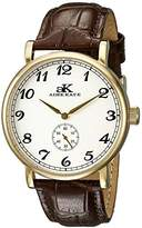 Adee Kaye Men's AK9061N-MG/SV Vintage Mechanical Analog Display Mechanical Hand Wind Brown Watch