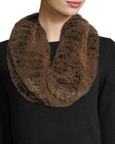 Neiman Marcus Luxury Rabbit Fur Snood