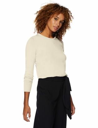 Lark & Ro Amazon Brand Women's Long Sleeve Crewneck Sweater white Small