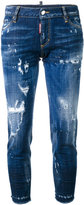 DSQUARED2 Skinny Cropped distressed jeans - women - Cotton/Polyester/Spandex/Elastane - 38