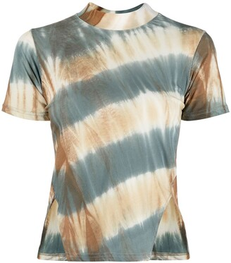 Song For The Mute tie-dye print cotton T-shirt