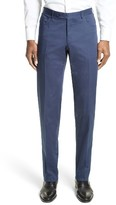 Canali Men's Flat Front Stretch Cotton Trousers