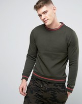 Brave Soul Contrast Ribbed Sweat