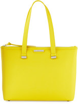 Charles Jourdan Owen Saffiano Leather Tote Bag, Yellow