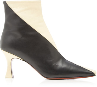 MANU Atelier Duck Two-Tone Leather Ankle Boots