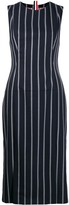 Thom Browne Banker Stripe Sleeveless Pencil Dress