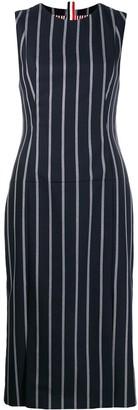 Thom Browne Vertical-Stripe Pencil Dress