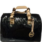 MICHAEL Michael Kors Womens Grayson Mirror Metallic Satchel Handbag