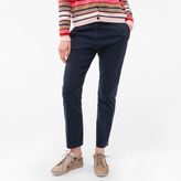 Paul Smith Women's Slim-Fit Navy Stretch-Cotton Chinos