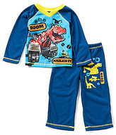 Komar Kids Little Boys 2T-4T DinoTrux Pajama Top & Pants Set