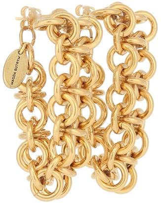 Magda Butrym Forsythia chain hoop earrings