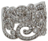 Effy Jewelry 14K Diamond Swirl Band