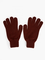 Paul Smith Burgundy Cashmere Gloves