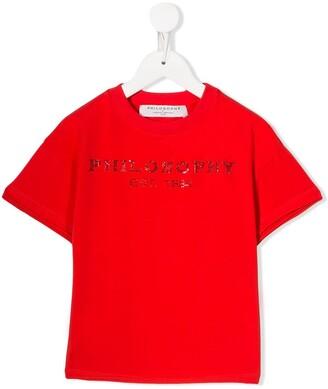 Philosophy Di Lorenzo Serafini Kids logo print T-shirt