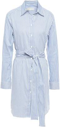 MICHAEL Michael Kors Belted Cotton-poplin Mini Shirt Dress