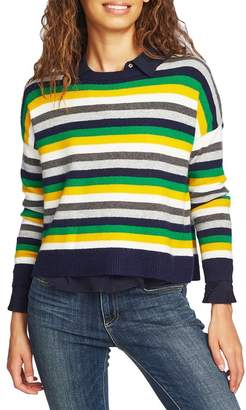 COURT AND ROWE Stripe Crop Sweater