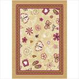 Joy Carpets Kid Essentials Infants & Toddlers Hearts and Flowers Rug, Multicolored, 3'10 x 5'4 by Joy Carpets