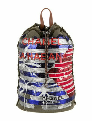 Chanel Cubano Trip Backpack Olive