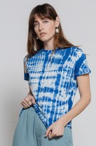 Ragdoll LA SLOUCHY TEE With PRINT Dusty Blue Tie Dye