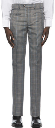 Givenchy Black and Beige Wool Prince of Wales Trousers
