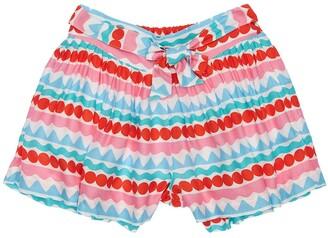 Stella McCartney Kids Printed Viscose Twill Shorts
