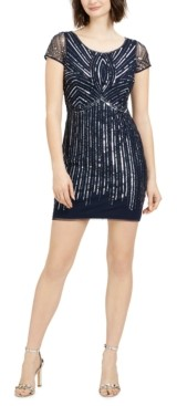 Adrianna Papell Papell Studio by Sequined Sheath Dress