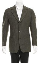 Ermenegildo Zegna Herringbone Patterned Wool Blazer