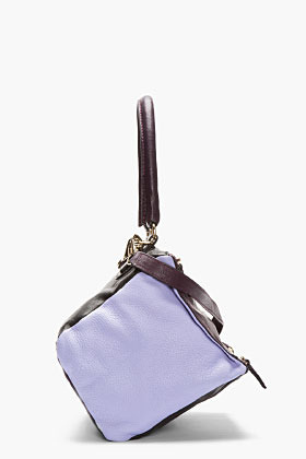 Givenchy Purple Colorblock Leather Small Pandora Shoulder Bag