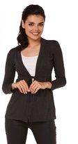 Zeta Ville Fashion Zeta Ville - Womens Jersey Cardigan Long Sleeves - Tie beneath the Bust - 235z (