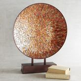 Pier 1 Imports Orange Mosaic Decorative Platter with Stand