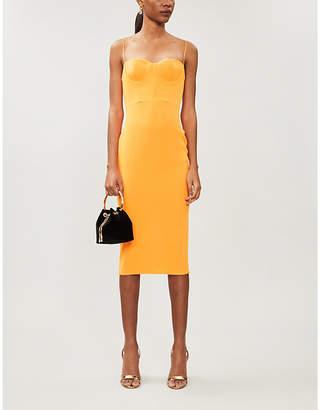 Alex Perry Lee colour-blocked crepe midi dress