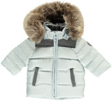 Tartine et Chocolat Two-Tone Fur-Lined Down Jacket