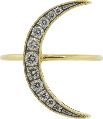 Andrea Fohrman Medium White Diamond Luna Ring