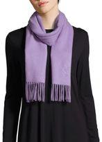 Saint Laurent Solid Wool & Cashmere Scarf