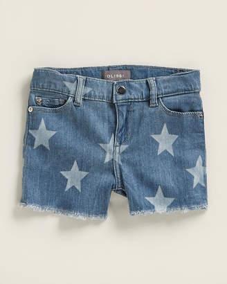 DL1961 Girls 4-6x) Lucy Star Pattern Denim Shorts